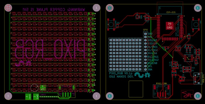 PIXO Pixel - An ESP32 Based IoT RGB Display for Make/100! by Sean