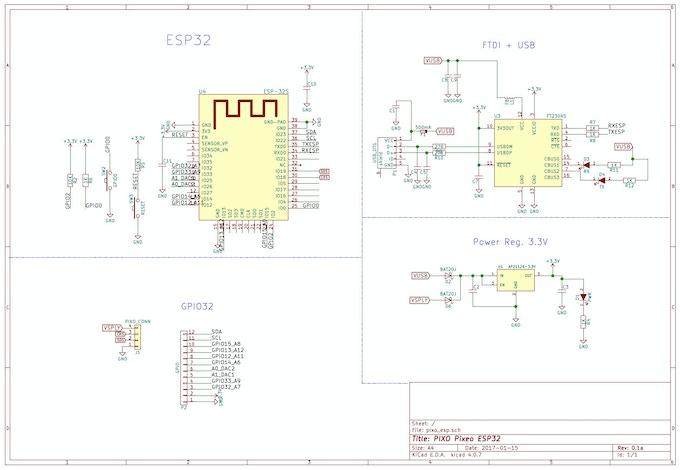 PIXO Pixel - An ESP32 Based IoT RGB Display for Make/100! by Sean