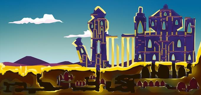 Concept art of the Desert level
