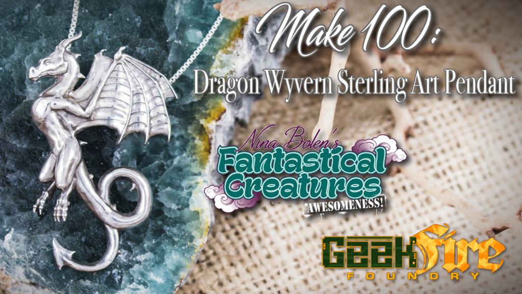 Make 100: Dragon Wyvern Silver Pendant by Nina & Brian Bolen project video thumbnail