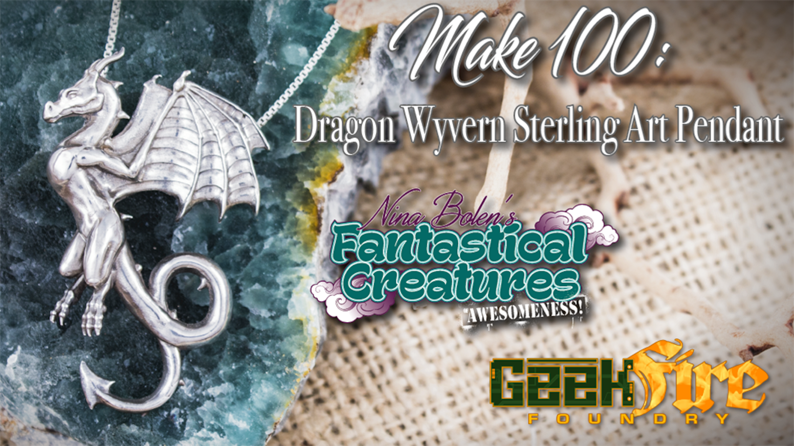 Limited Edition Dragon Wyvern Pendant Hand Crafted In Fine Sterling Silver