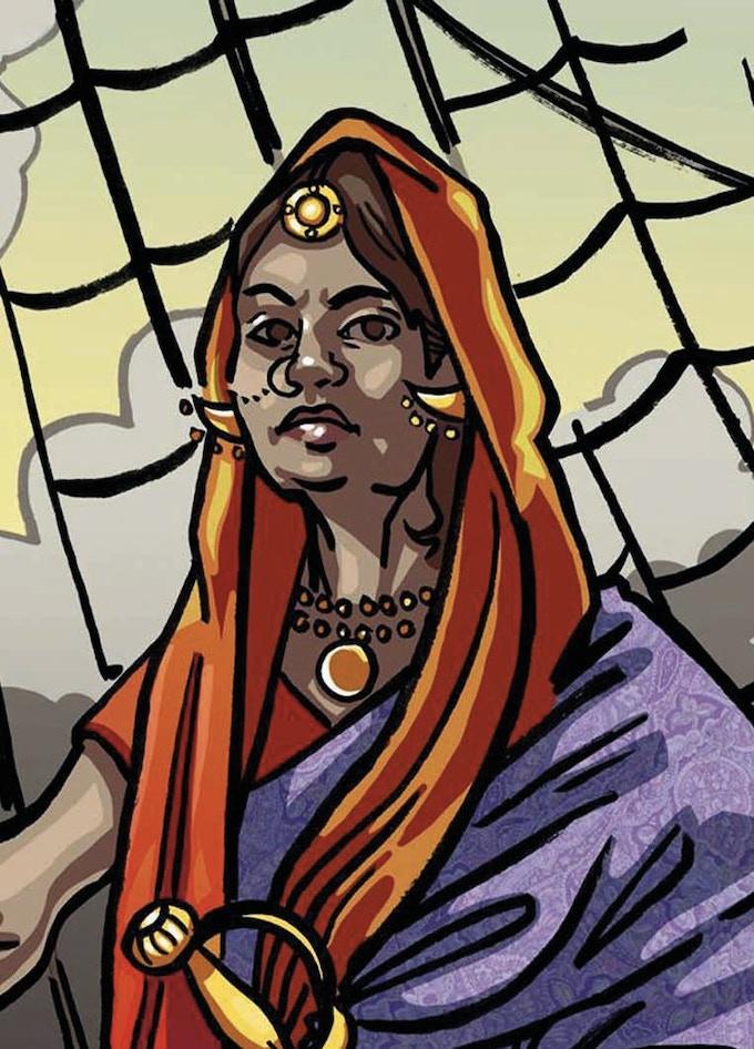 Shanti the Pirate Queen - Artwork by Caroline Parkinson