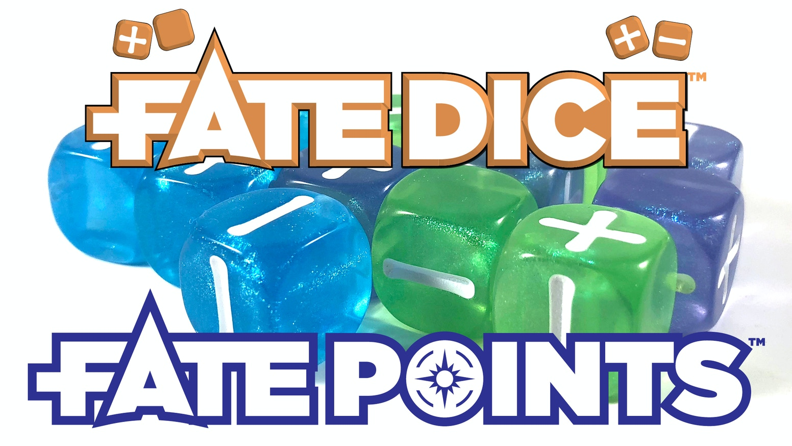 New, exciting styles for Fate Dice and matching Fate Points to use in your Fate or Fudge games