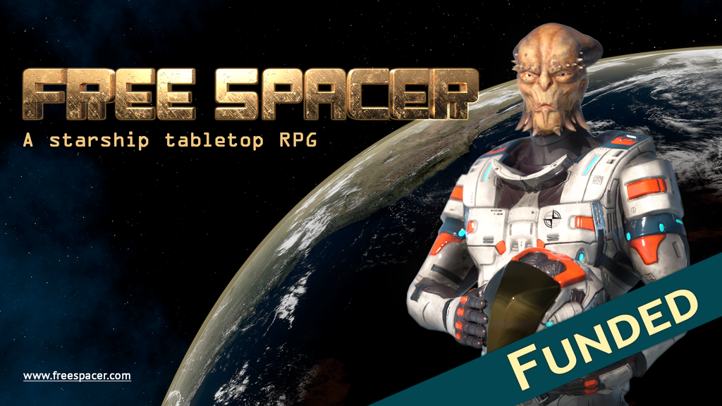 Free Spacer // a sandbox starship tabletop RPG project video thumbnail