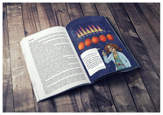 """The extra scientific information given in the """"Ask Dr. Lindy"""" section brings a special female character, inspired by Dr. Jocelyn Bell (the astrophysicist who discovered the first pulsars)."""