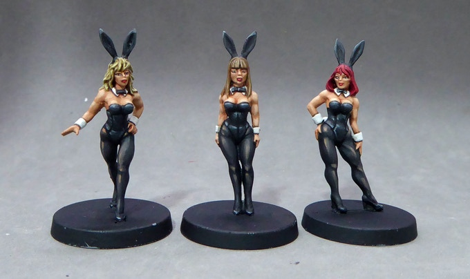 1. Bunny girls standing - looking sharp and sexy!