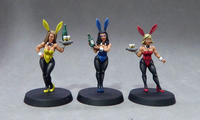 2. Bunny girls serving an array of refreshing beverages!