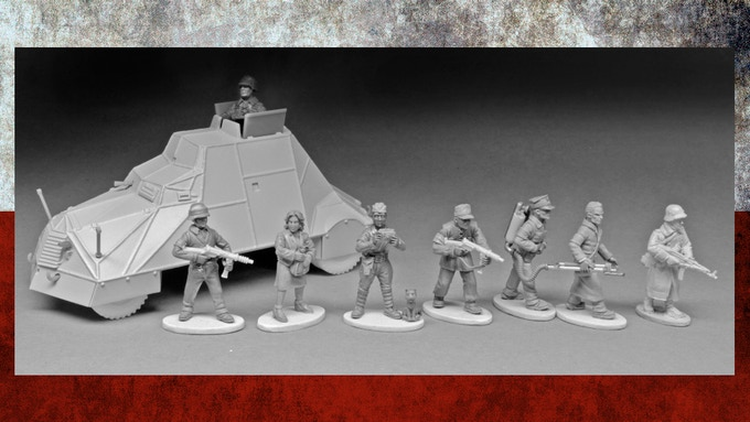 Our figures shown with an excellent Empress Minis' Volksgrenadier. © Empress Miniatures and Sculpted by Paul Hicks. Click for Hi-Res.