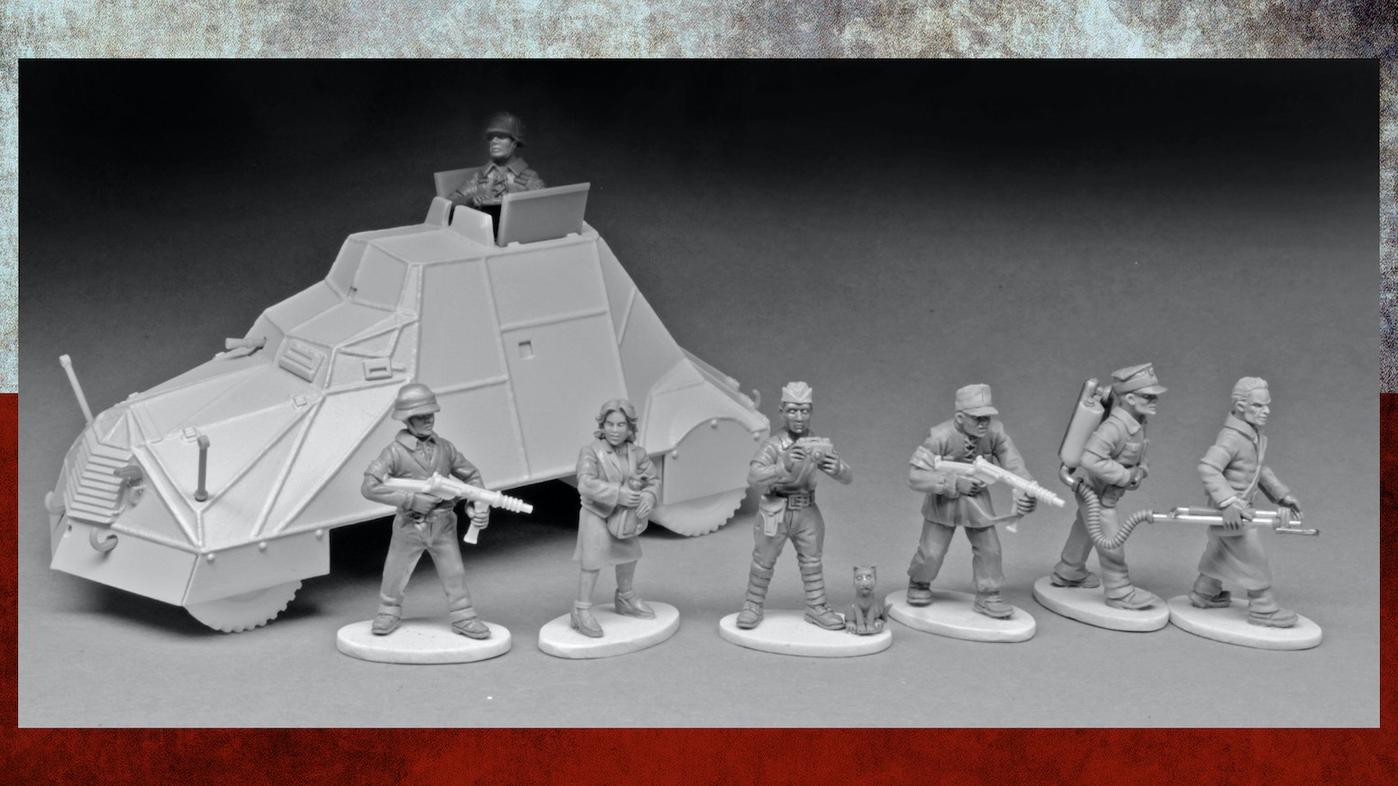 A kickstarter for a 28mm range of Warsaw Uprising 1944 insurgents and armoured car. Suitable for wargaming and modeling.