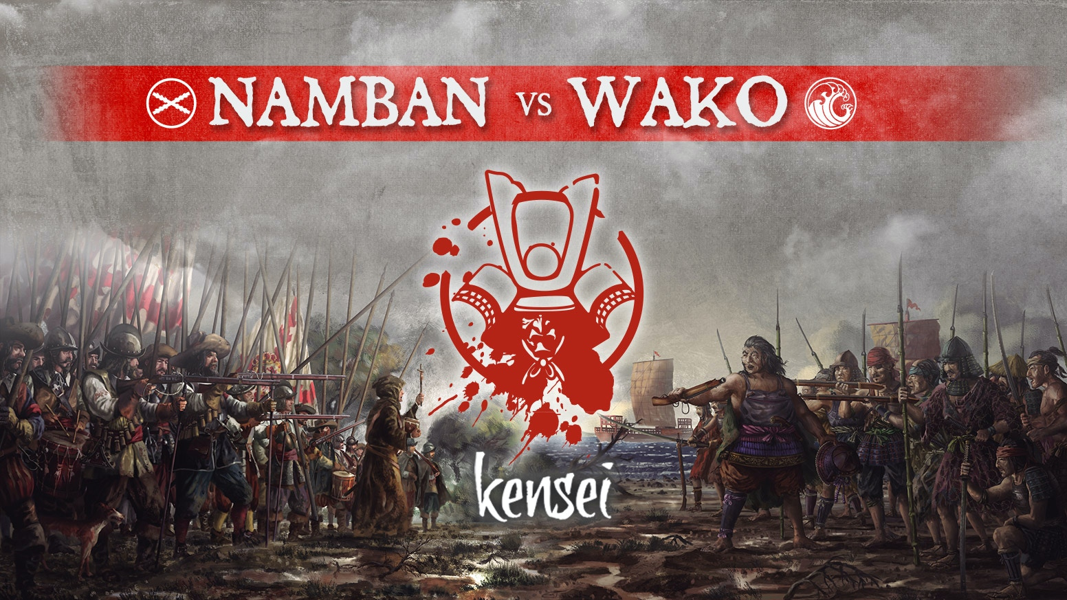 Two new factions the Wako pirates and the European Namban for the tabletop game Kensei. 32mm metal miniatures.