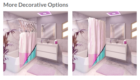Real photo (see our prototype gallery) in digital rendering of bathroom, for context. Miami style by Brian Sawyer.