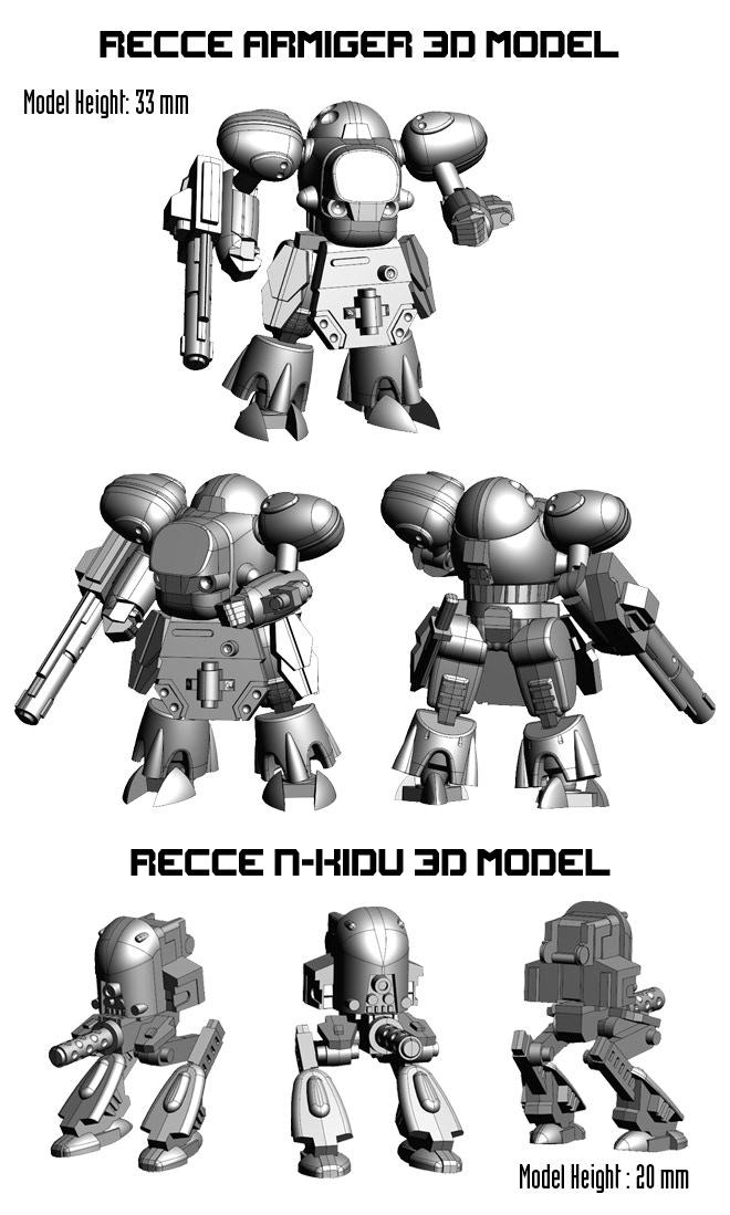 Recce Armiger and N-KIDU 3d Model Larger Images.