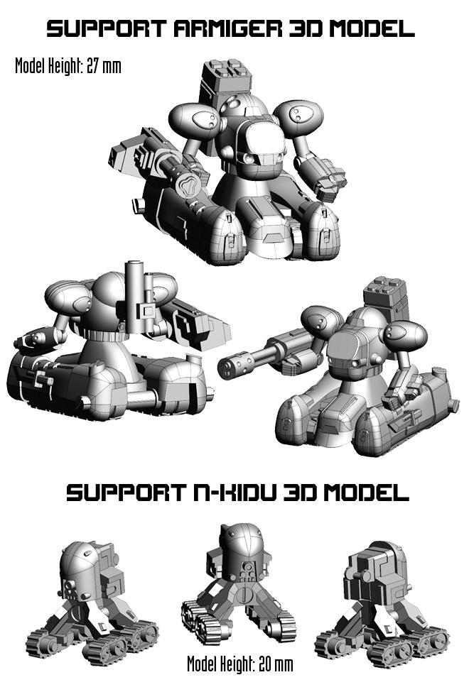 Support Armiger and N-KIDU 3d Model Larger Images.