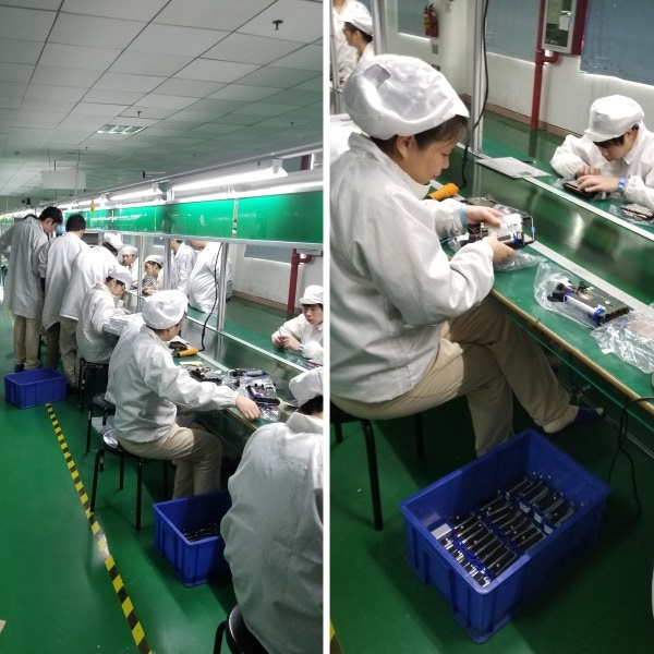 Manufacturing line - assembling the SPUD electronics and chassis.
