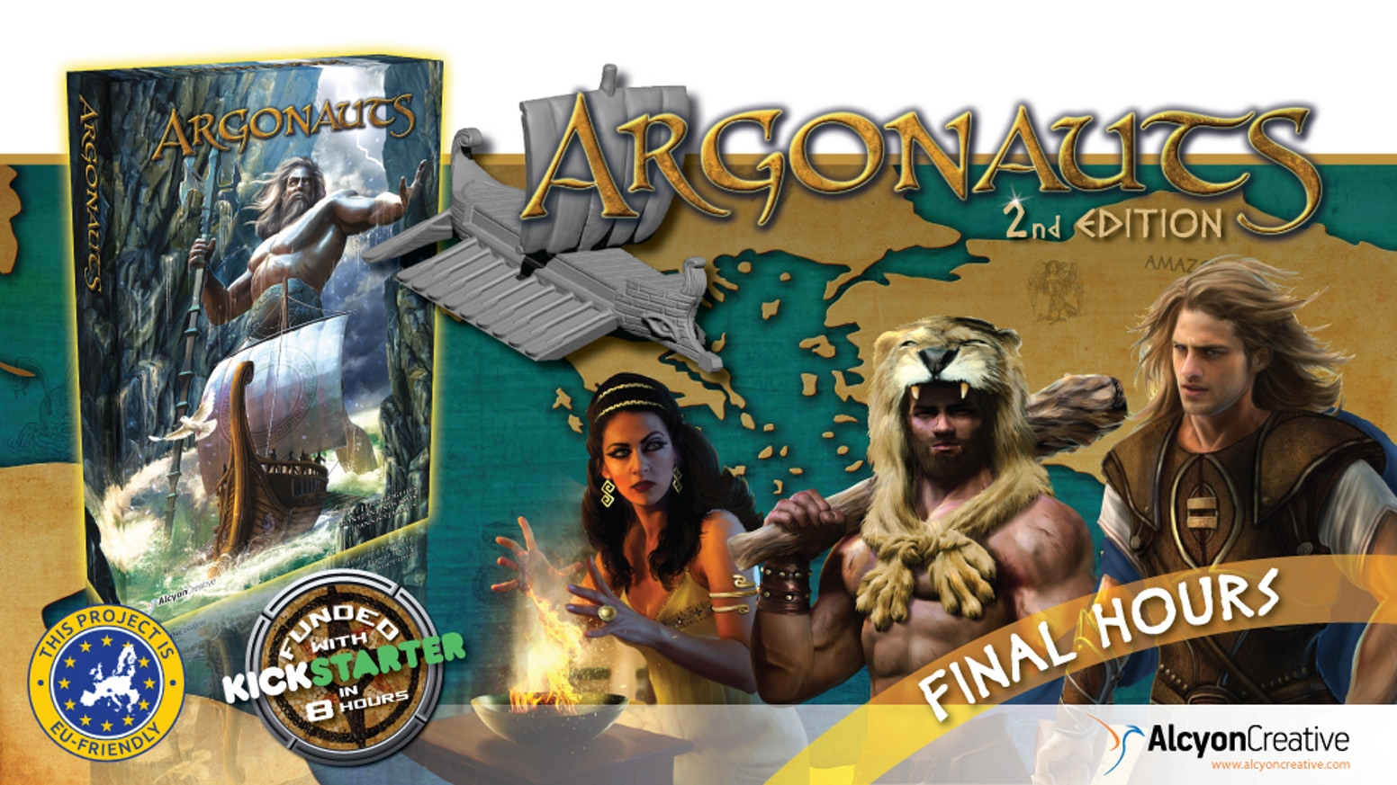 Co-op game, 1-4 players. Join Jason and the Argonauts in their legendary journey to reclaim the Golden Fleece. Deluxe 2nd Edition.