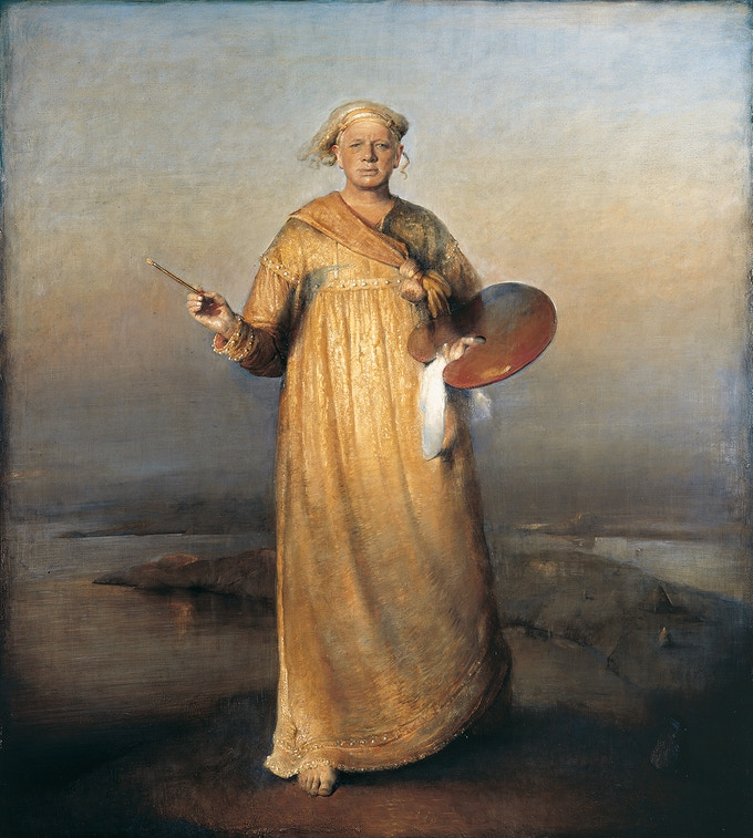 """""""The Saviour of Painting"""" (1997) - Self portrait by Odd Nerdrum"""