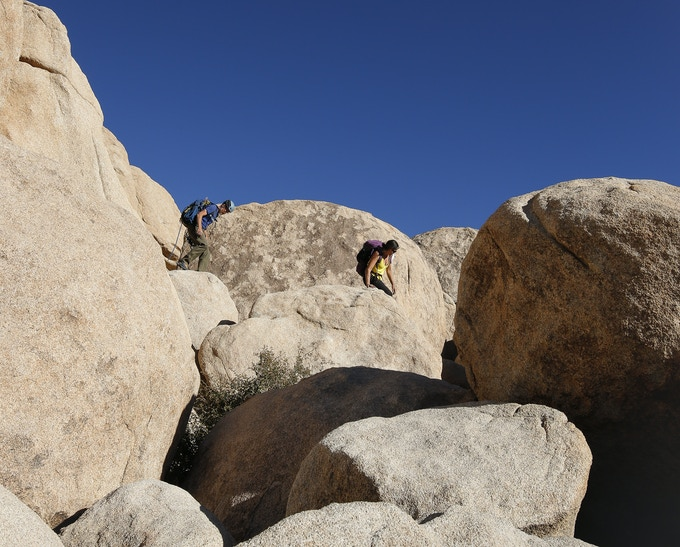 The infamous and endless Joshua Tree boulder fields. Photo credit: Kevin Powell