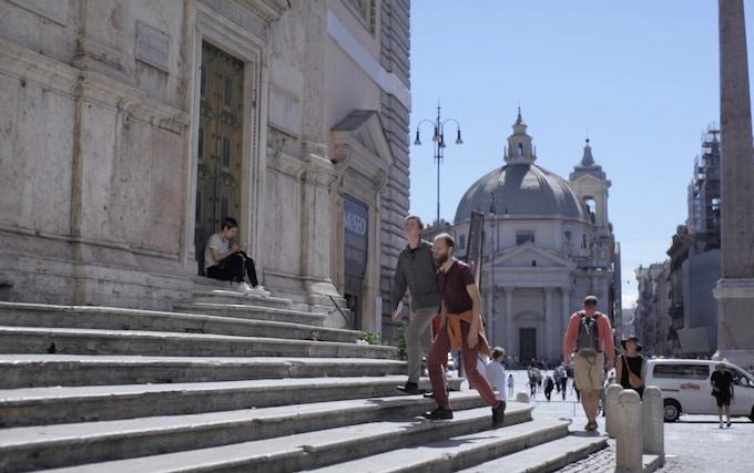 On the way to Santa Maria del Poppolo in Rome