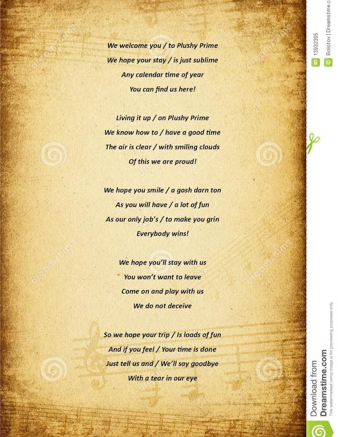 Pluashian Song of Welcoming.