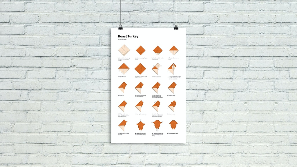 Turkigami: An Origami Poster on Handmade Paper [Make 100