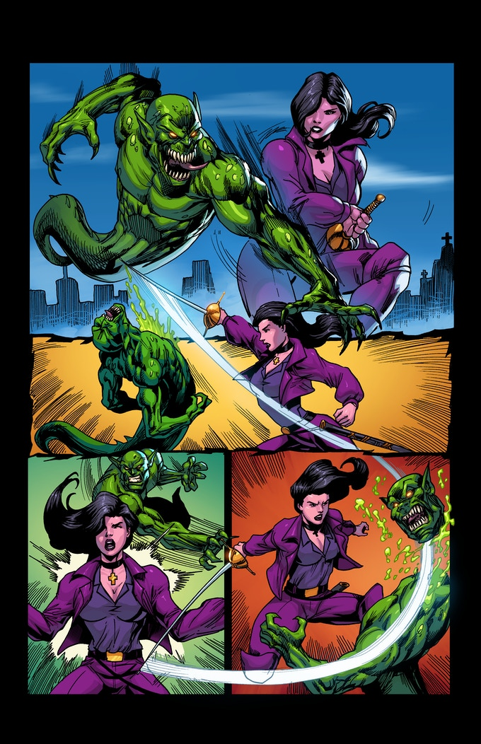 """PAGE 7 from the """"ALABASTER"""" comic book ISSUE #1"""