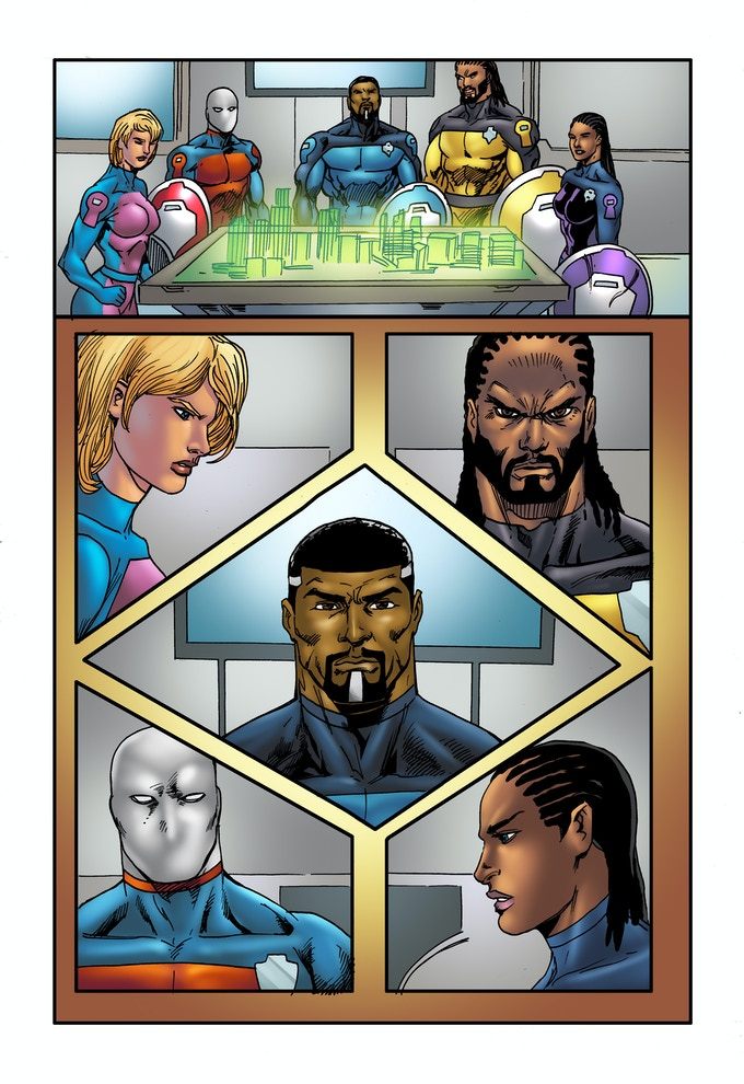 """PAGE 7 from the """"SHIELDS OF FAITH"""" comic book ISSUE #1"""