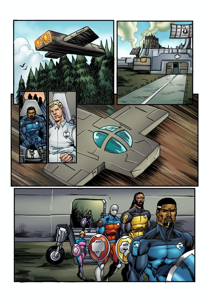 """PAGE 6 from the """"SHIELDS OF FAITH"""" comic book ISSUE #1"""