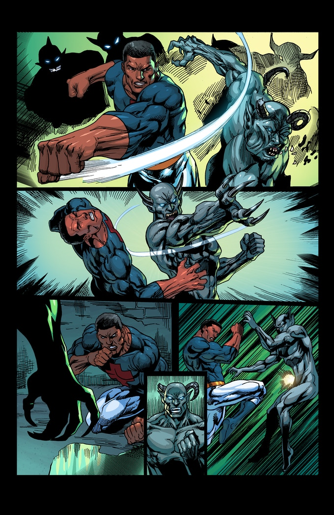 """PAGE 6 from the """"CHRISTIAN FLAGG"""" comic book ISSUE #1"""