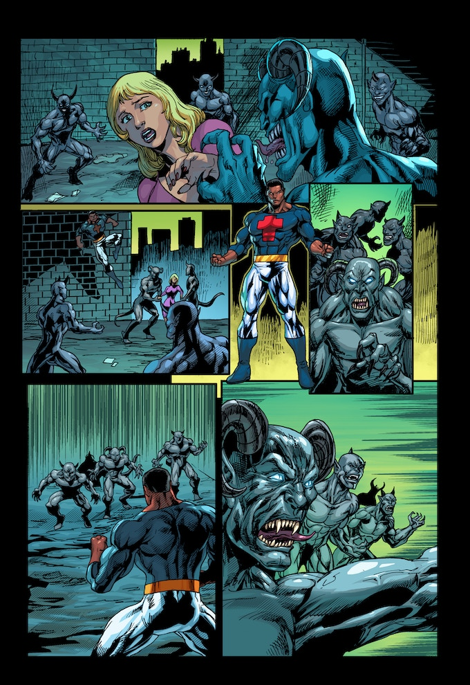 """PAGE 5 from the """"CHRISTIAN FLAGG"""" comic book ISSUE #1"""