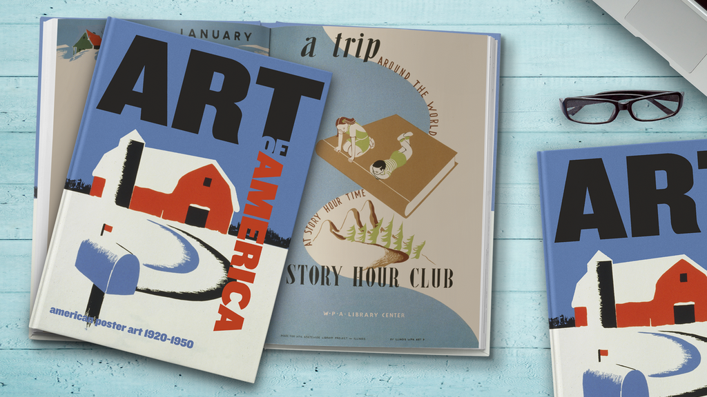 ART OF AMERICA BOOK // EARLY POSTER ILLUSTRATIONS project video thumbnail