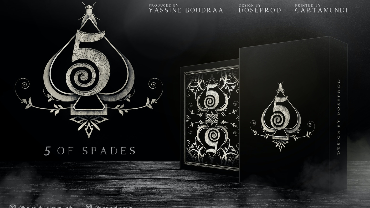 5 of Spades Playing Cards Deck Dark Edition by Yassine Boudraa ...
