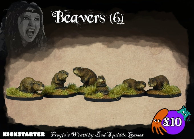 Six adorable and pretty hefty beavers, cast in pewter. Quirky and characterful, they are a wonderful addition to the tabletop.