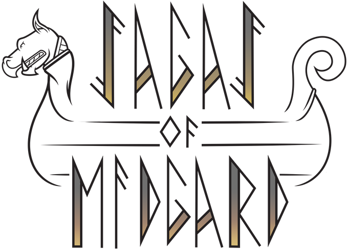 """Sagas of Midgard Logo"". James Cornell, digital."