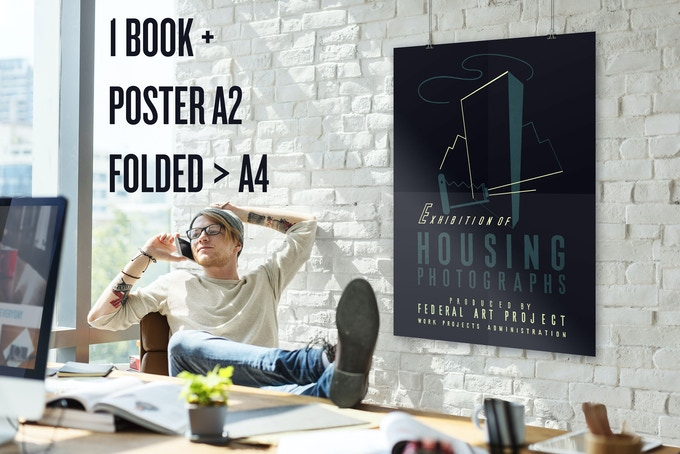 1 Book + Poster A2 -> folded to A4