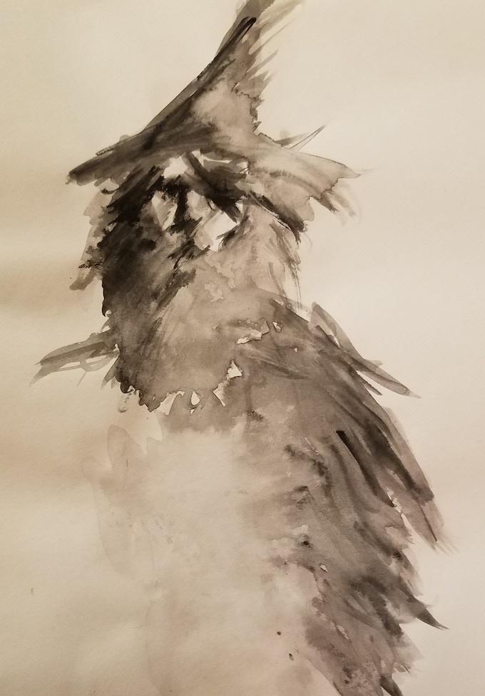 """Odin"". Leah Porter, Watercolor"
