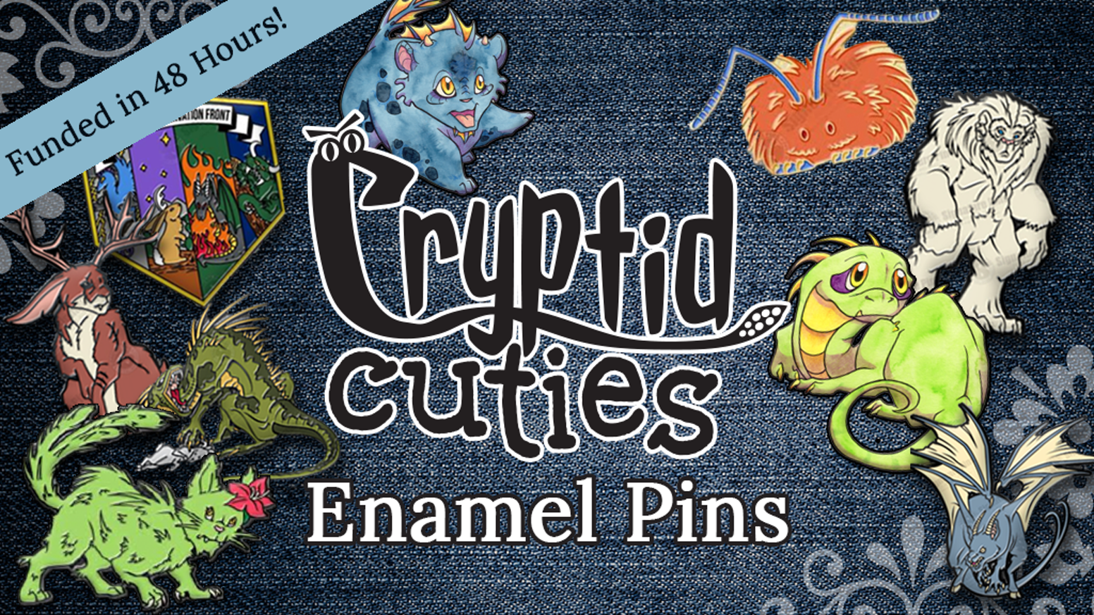 Cryptid Cuties: Enamel Pins of Fantastic Creatures & Beasts by