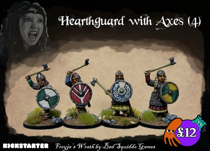 Four individual single piece pewter figures with separate shields. Amazing to represent your elite troops!