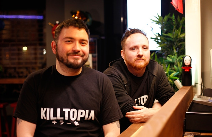 Team Killtopia consists of Dave Cook (left) and Craig Paton