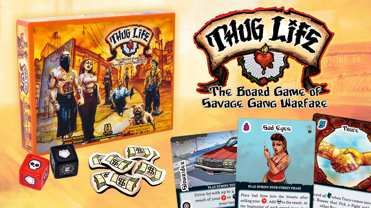 Thug life is a fast paced, urban action game where players take on the role of Bosses battling for respect in the Streets!