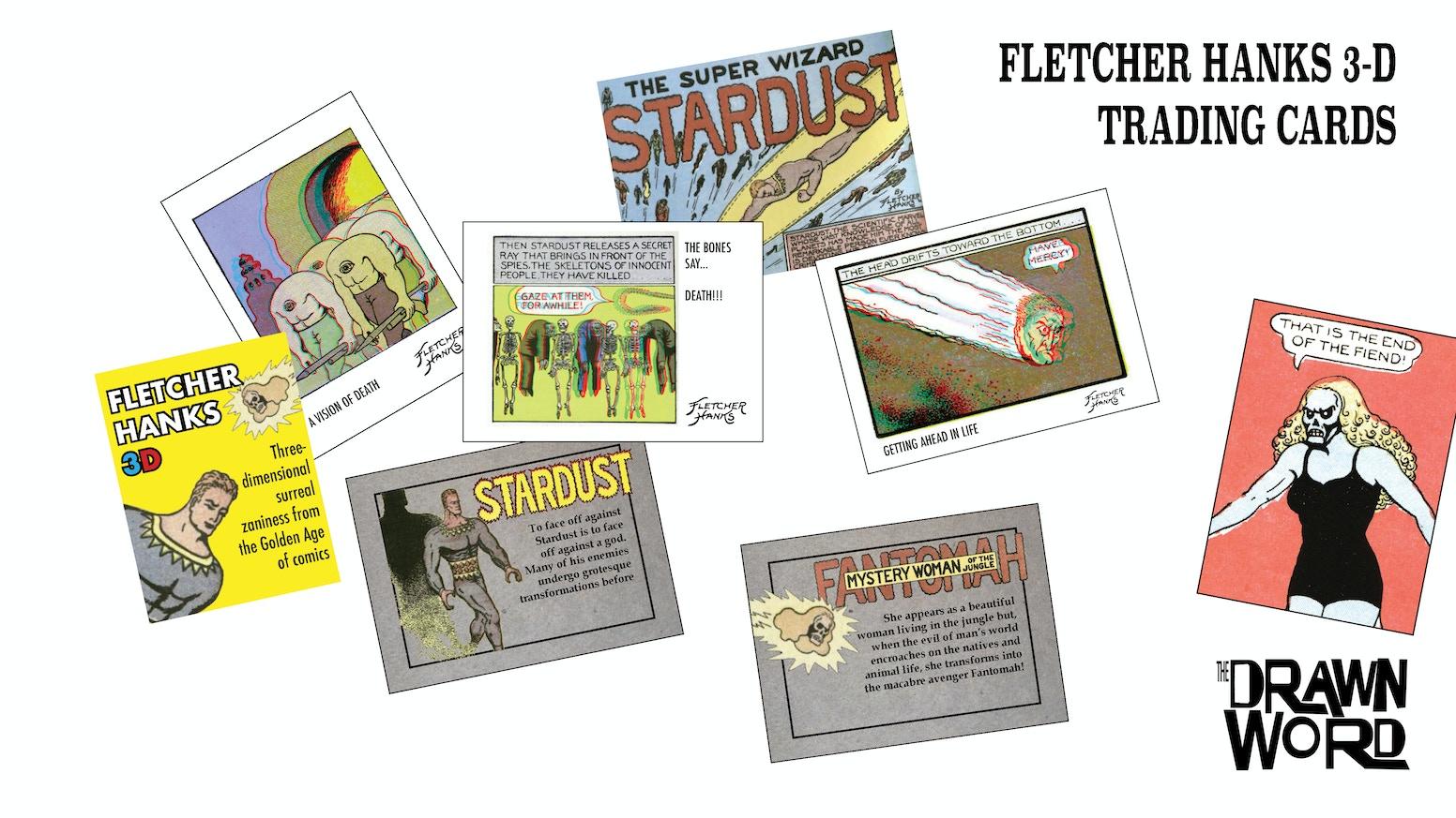 fletcher hanks 3d trading cards - Irving Rewards Card