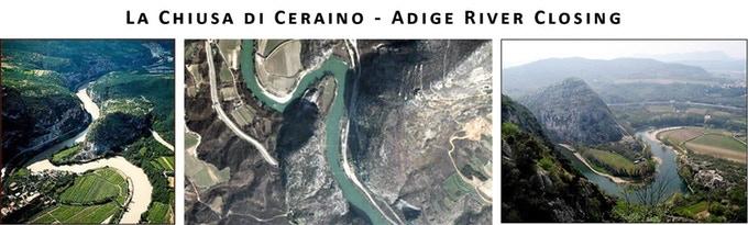 Site of secret plan of implosion LA CHIUSA DI CERAINO located about one mile north of Volargne di Dolcé