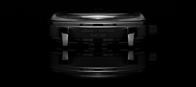 Serial number engraving in-between the bottom lugs only for LEGACY EDITION watches