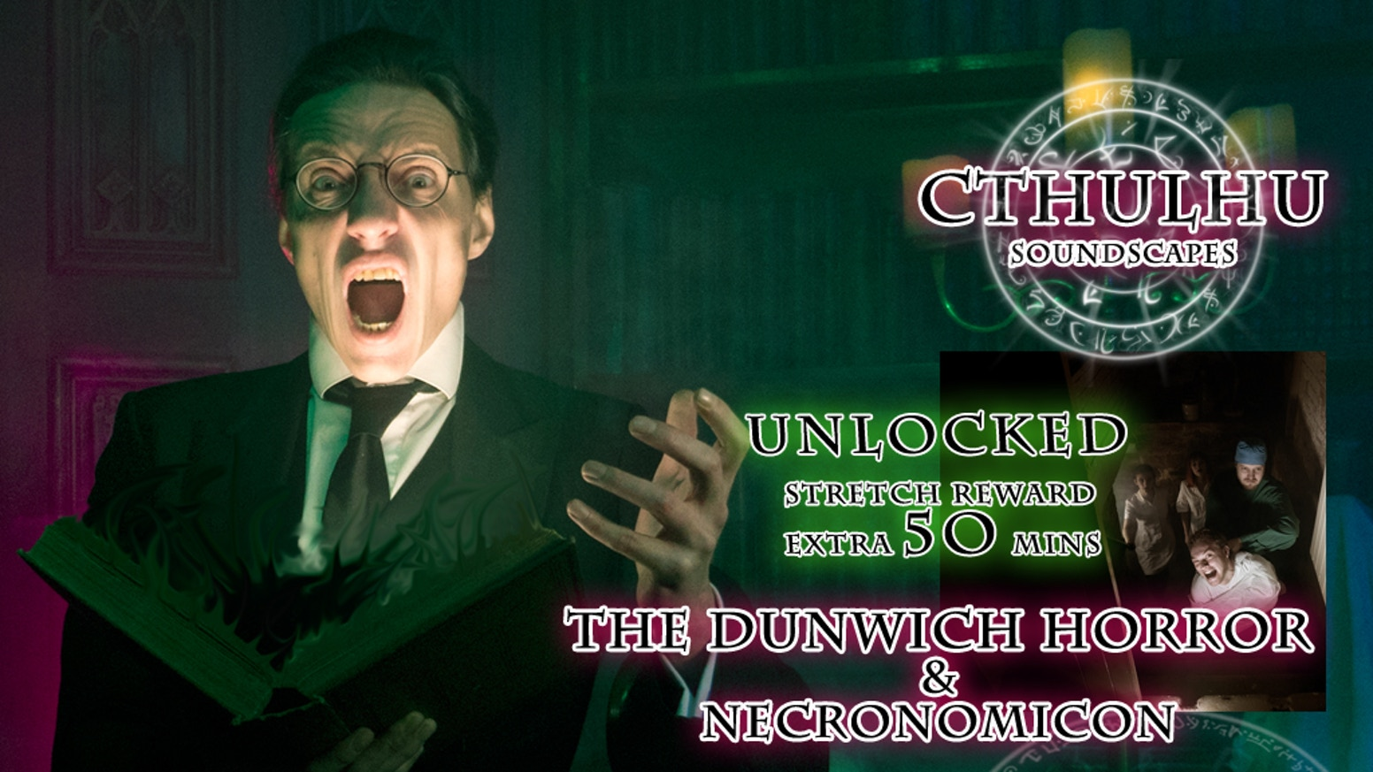 Over 16 Hours of Cthulhu soundscapes to immerse yourselves in during roleplaying, boardgames and LARP.