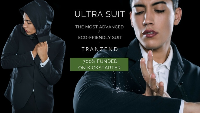 The world's first waterproof, anti-stain, ultra stretchable, UV protected, wrinkle free, breathable, anti-odour and eco-friendly suit.
