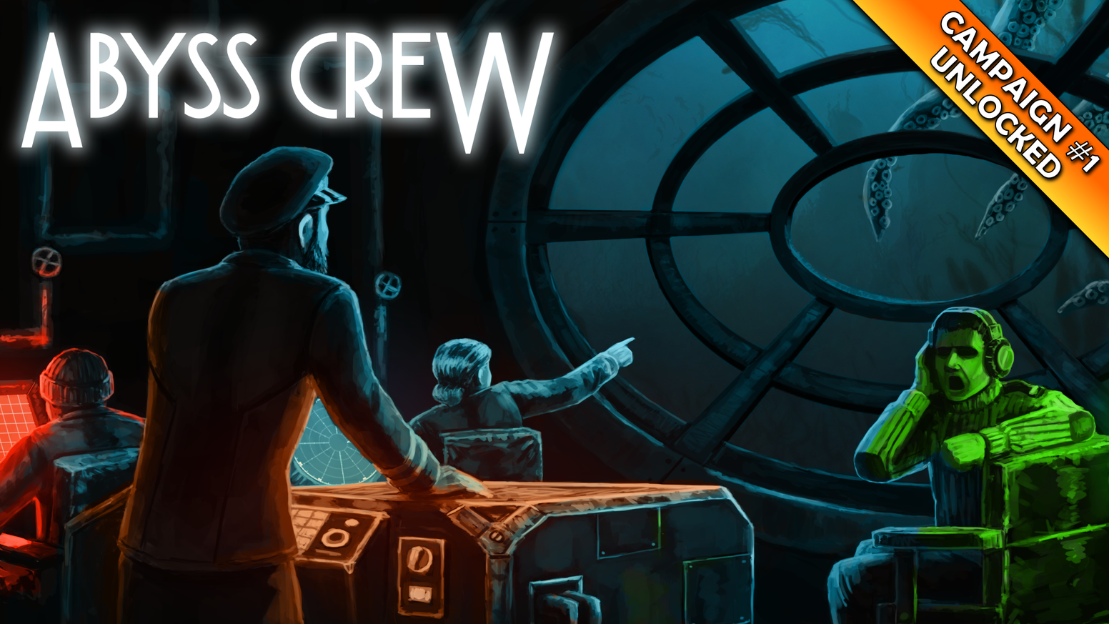 Abyss Crew is a co-op exploration videogame aboard a submarine, set in a steampunk universe.