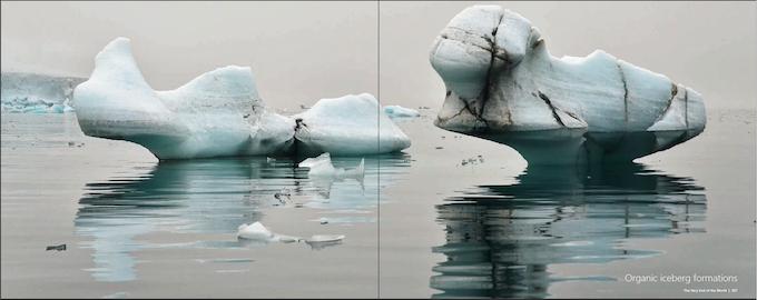 Nature shapes icebergs incredibly beautiful, Franz Josef Land.