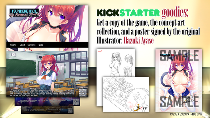 A sneak-peek of the concept art and poster design we are offering to backers.