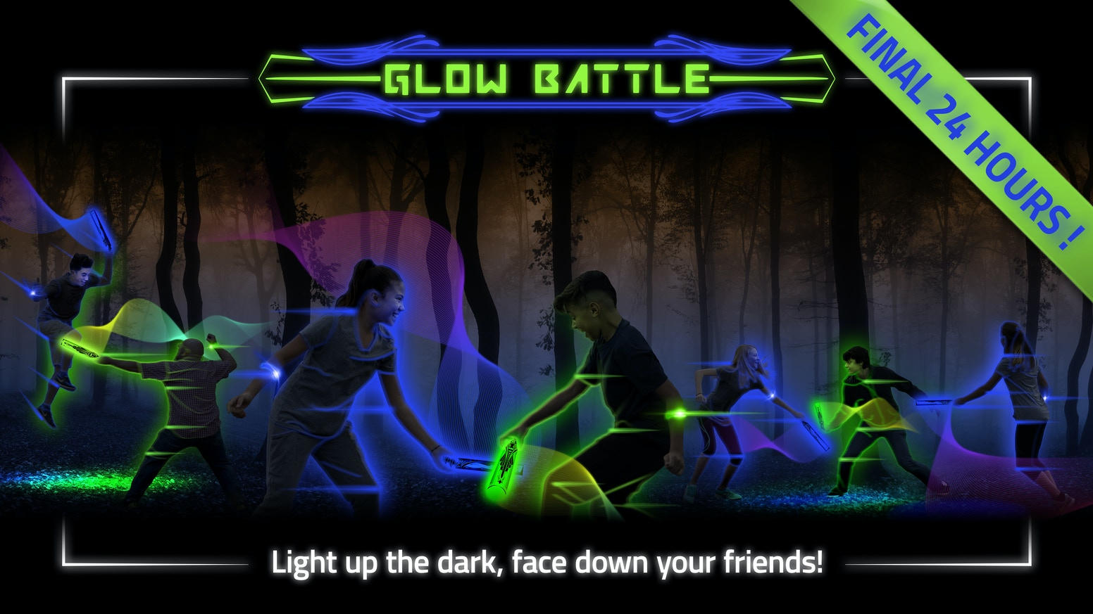 Light up the dark and face down your friends in the glowing game that leaves smartphones and video games in the dust!