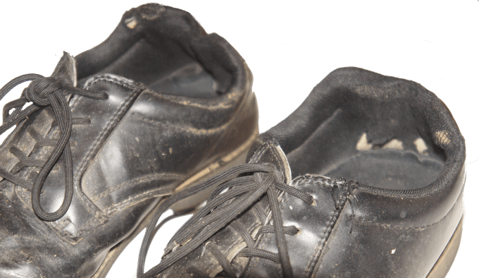 Broken Shoes that Inspired the Creation of Step in Sock