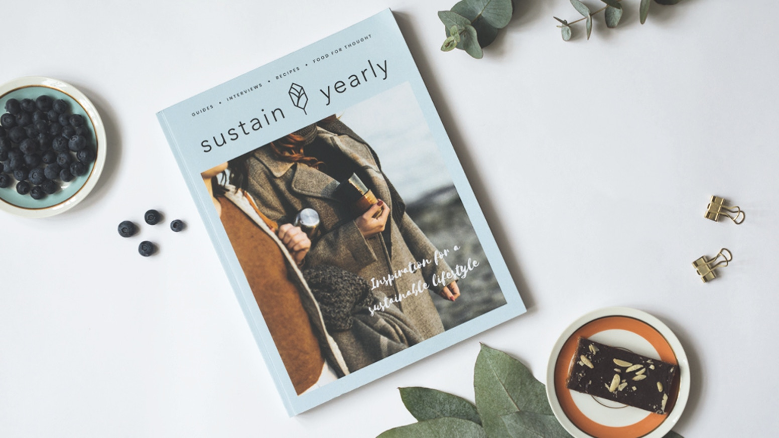 Sustain Yearly is your guide to a sustainable lifestyle. We're happy to bring it to life and will be printing and shipping in the upcoming months. If you didn't get one yet, you can check it out on our shop: